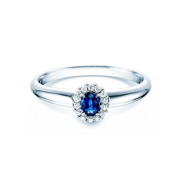 Кольцо для помолвки с сапфиром и бриллиантами - d-vita.ru 7b2759553a6